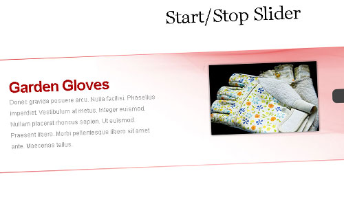 Start/Stop Slider with jQuery