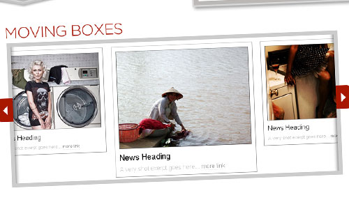 Moving Boxes Gallery with jQuery