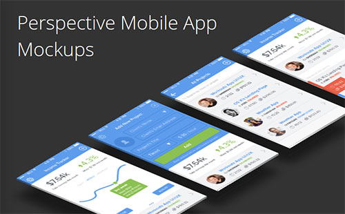 Perspective Mobile App Mockups