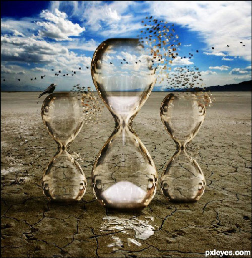 Create a Fantastic Surreal Representation of Time