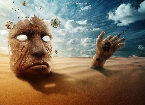 Design a Surreal Desert Scene in Photoshop