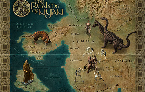 Create a fantasy map illustration