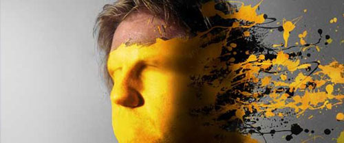 Mold Paint splatter into a face in Photoshop