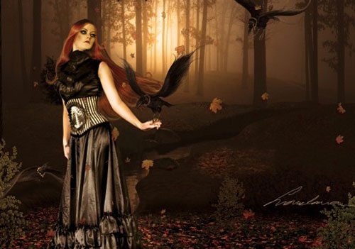 Create a dark emotional Photo manipulation