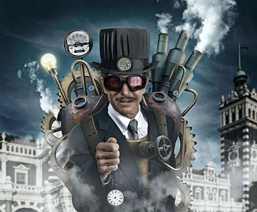 Create a Steam Punk stlye illustration