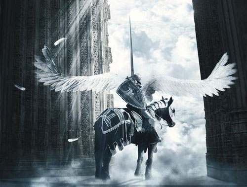 Design an epic fantasy scene with photoshop