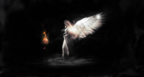 Create a Dark Angelic Figure with Magic Fire Orb Effect in Photoshop