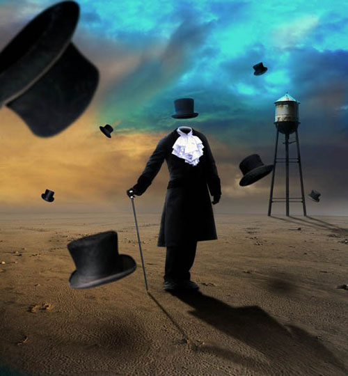 Create Surreal Photo Manipulation with A Man Without Face