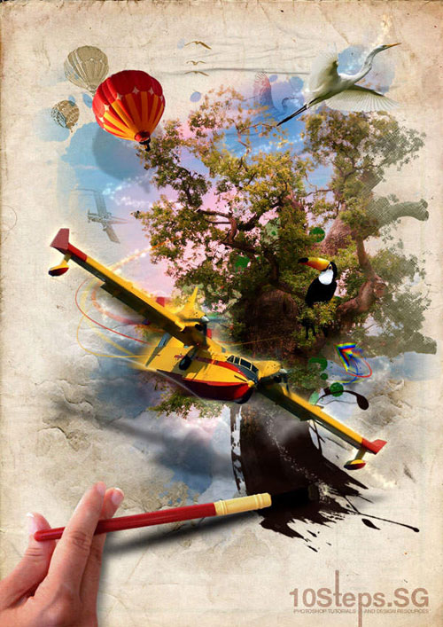 How to Create an Imaginative,Magical Painted Scene