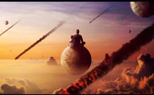Create a surreal apocalypse