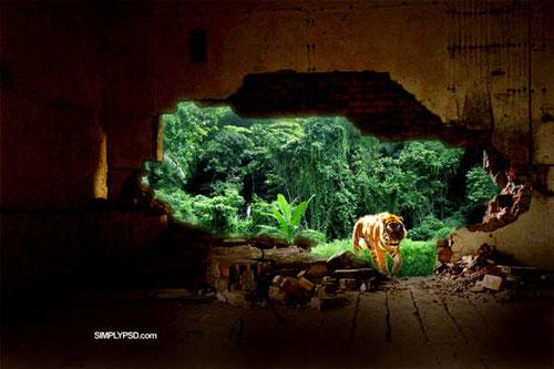 Create an Urban Tiger Photo Manipulation