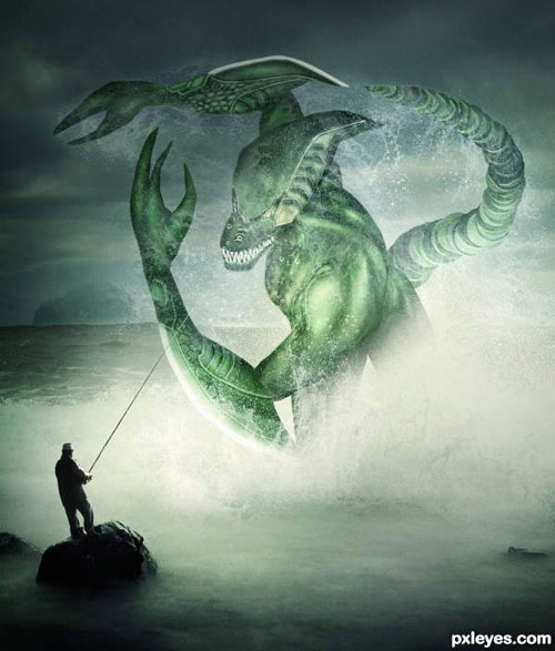 Create a Fantasy Sea Monster