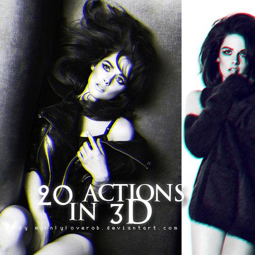 20 ACCIONES en 3D por myonlyloverob