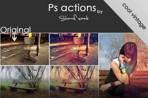 Acciones de Photoshop - 7 por Honestheart26