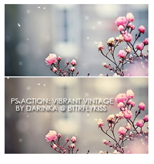 Vibrant vintage action by BTTRFLYKISS