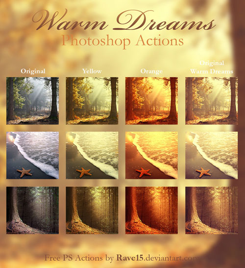 Warm Dreams Photoshop Actions by Rave15