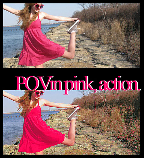 +Point of view in pink, action by livingintransylvan