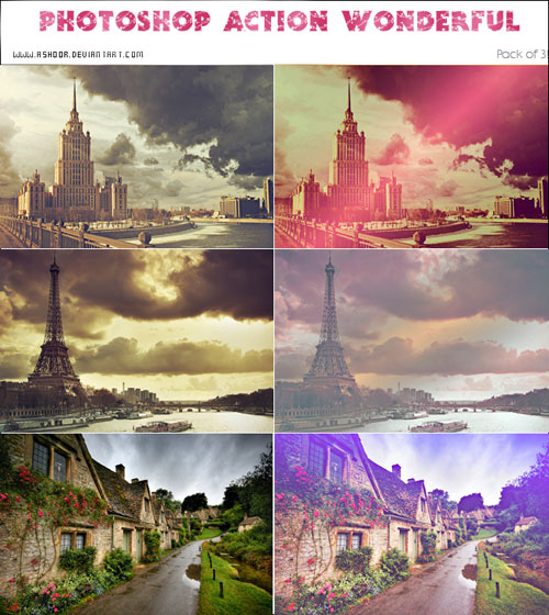 Photoshop Action Variety by ASHOOR