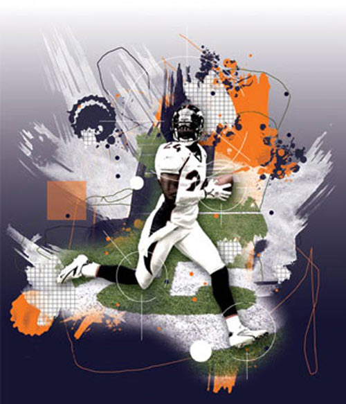 Amazing Abstract Sports Poster