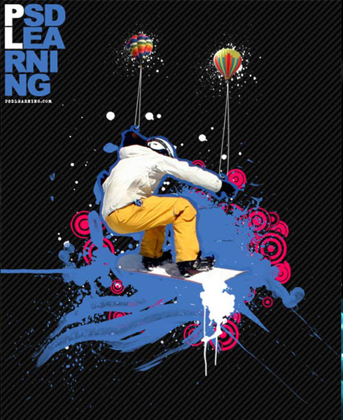 Awesome snowboard poster