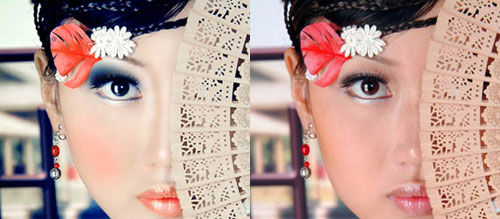 Give your ordinary portrait photo glamorous effect with charming make-up
