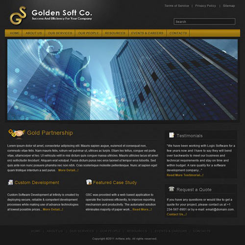 Design Simple and Elegant Business Web Template in Photoshop