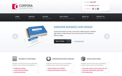 Create a Sleek, Corporate Web Design