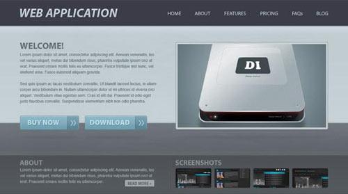 Create a Web Application Website Design in Photoshop