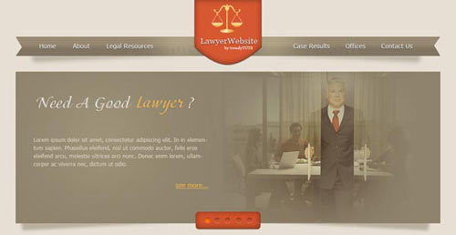 How to design a lawyer website in Photoshop