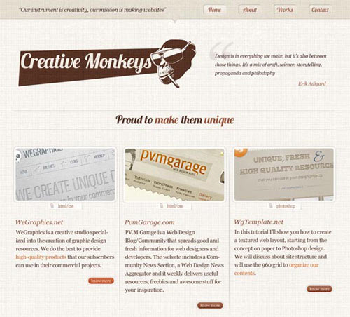 Create a lovely textured web design from Photoshop to HTML/CSS