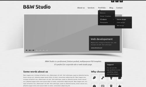 psd web template
