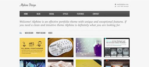 Alphine Free Homepage PSD