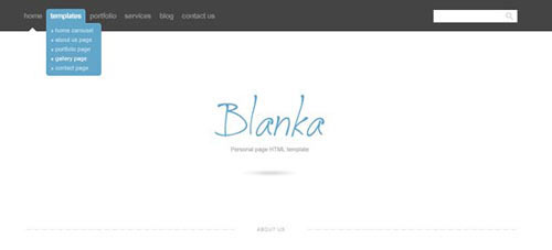 Blanka website template (With PSD & HTML5 files included)