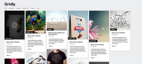 Gridly – Free PSD Blog Website