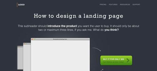 Freebie – A Landing Page Design