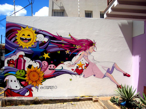 Lucy in the sky graffiti