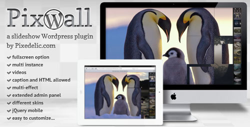 Pixwall slideshow for WordPress