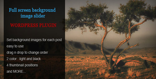 Fullscreen Background Image Slider WP Plugin