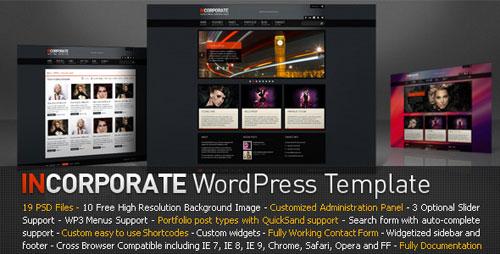 Incorporate WordPress Template