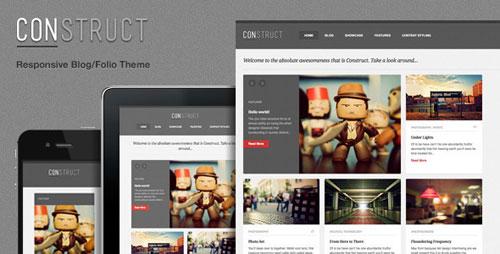 Construct, a Responsive WordPress Blog/Folio Theme