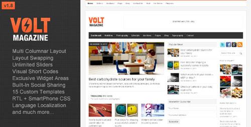 Volt - Magazine / Editorial WordPress Theme