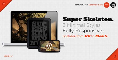 Super Skeleton WP: Responsive, Minimal, Beautiful