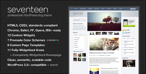 Seventeen WordPress Theme