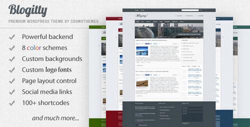 Blogitty - Premium Magazine/Blog/Business Theme