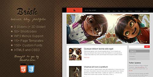Brisk - Business, Blog & Portfolio WordPress Theme
