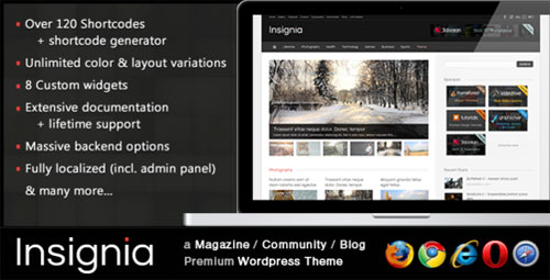 Insignia - a Magazine / Community / Blog theme
