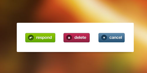 psd button