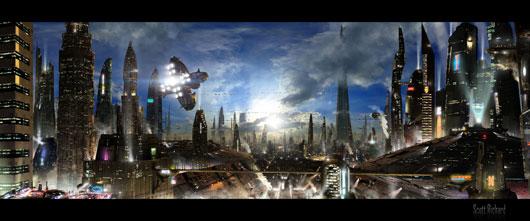 Futuristic City 3