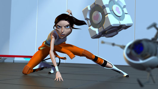 Portal Short Chell Test Render