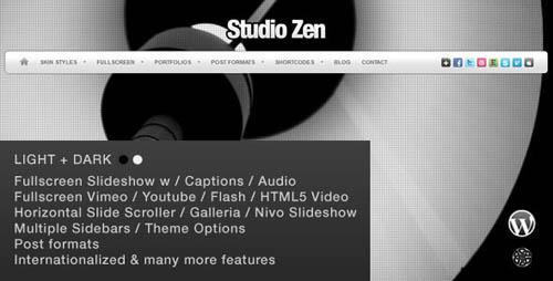 Studio Zen Fullscreen Portfolio WordPress Theme _23